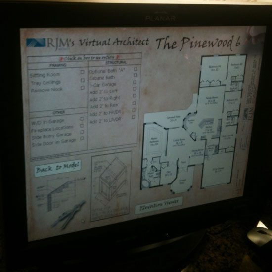 The Virtual Architect Software in use at RJM Homes in Port St. Lucie, FL